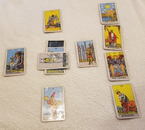 Tarot reading with Magician card in hopes and fears position