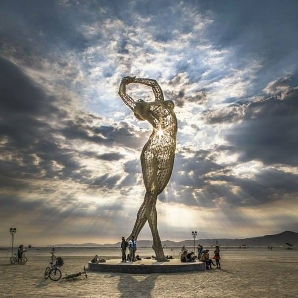 Marco Cochrane Truth is Beauty sculpture burning man